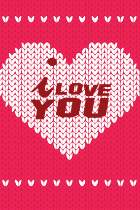 Digital Hearts Valentine Day Greeting Card