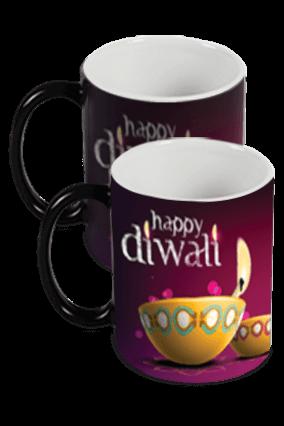 Abstract Diwali Black Magic Mug