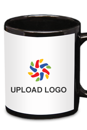 Upload Logo Black Patch Mug