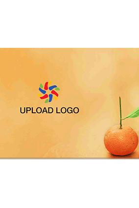 Customize Juicy Orange Table Mat