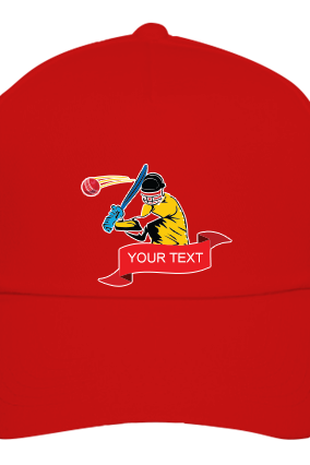 Cricket Red Cap with Logo