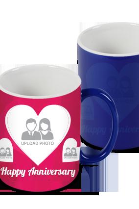 Happy Anniversary Blue Magic Mug