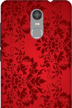 3D - Redmi Note 3 Red Color Mobile Cover