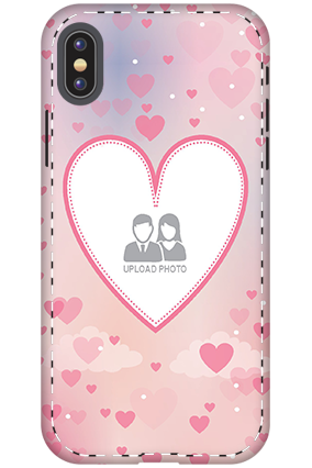 Designer 3D-Apple iPhone X Love & Heart Anniversary Mobile Cover