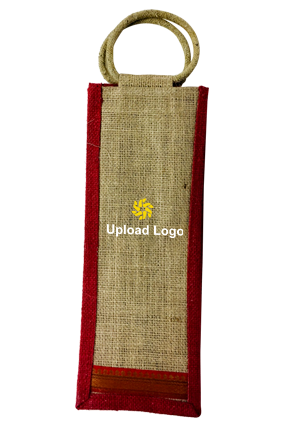 Promotional Upload Logo Jute Bottle Bag 01
