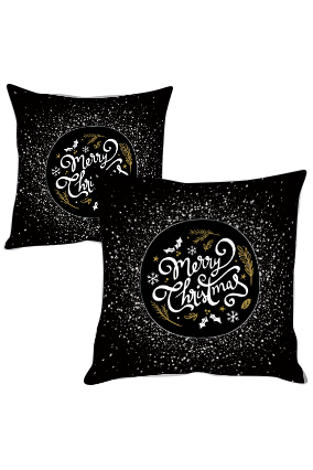 Drizzling Glitter Merry Christmas Cushion Cover