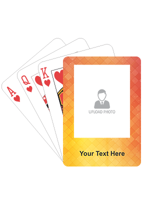 Shades of Yellow and Orange Playing Cards