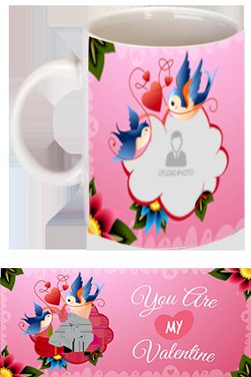 Chirping Birds Personalized Ceramic Valentine Mug