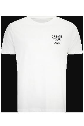 Create Your Own Logo White Cotton Crew Neck T-Shirt