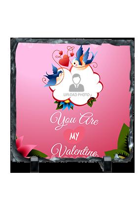 You Are My Love Valentine Square Photo Rock