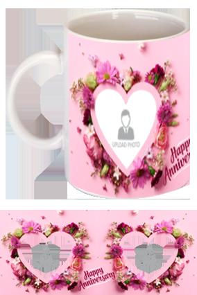 Beautiful Hearts Personalized Anniversary Mug