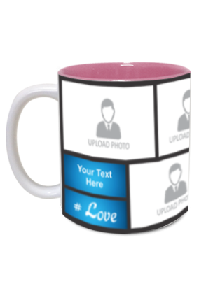 Blue Personalized Father's Day Exclusive Inside Pink Mug