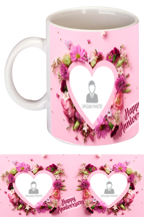 Beautiful Hearts Personalized Anniversary Bone China Mug