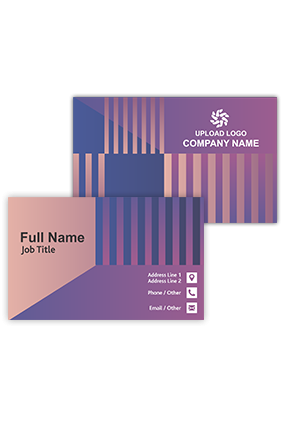 Violet and Pink Stripped Information and Technology Visiting Card