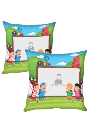 Adorable Kids Playing Personalized Kids Cushion Cover