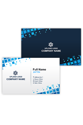 Blue and Black Business Visiting Card