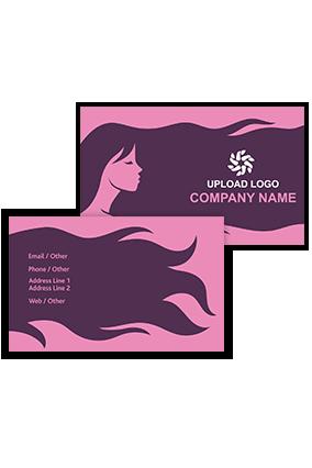 Long Hair Customized Saloon Visiting Card