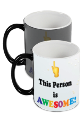 Awesome Person Customized Trendy Black Magic Mug