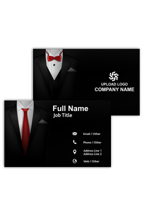 Gentleman with Tie Fashion Visiting Card