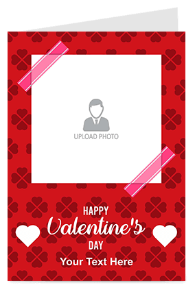 Red Color Valentine's Day Greeting Card