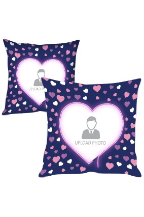 Hearts Custom Photo Cushion Cover