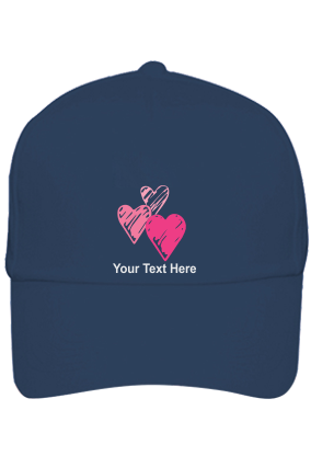 Be My Valentine Customised Cotton Blue Cap