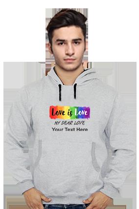 Love is Love Customised Hoodie (Gray)