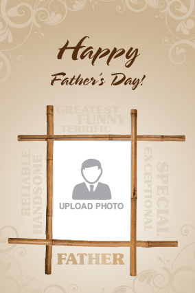 Family Hero Father's Day Greeting Card