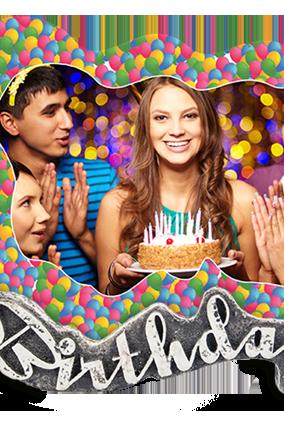 Teenage Rockstar Birthday Photo Frame