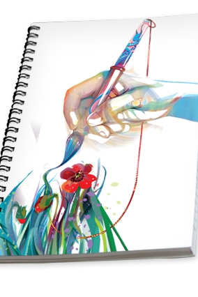 Artistic Corporate Notebook