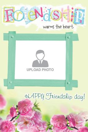 Friendship Day Floral Frame Card