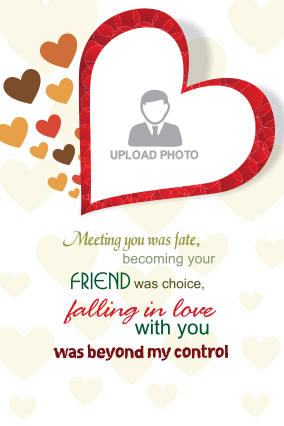 Love Story Valentine Day Greeting Card