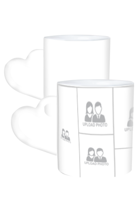 11 Photos Heart Handle White Coffee Mug