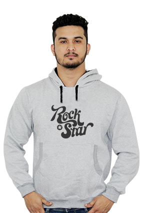 Designer Rock Star Themed Full Sleeves Hoodie