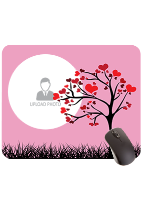 Tree with Hearty Leaves Rectangular Mouse Pad