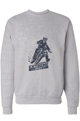 Extreme Sport Cotton Gray Sweatshirt