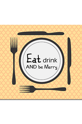 Personalised Eat & Drink Table Mat