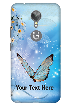3D - Gionee A1 Blue Butterfly Mobile Cover