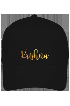 Black Cap - Krishna Golden Cotton