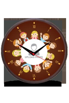 Brown Wooden Wall Clock