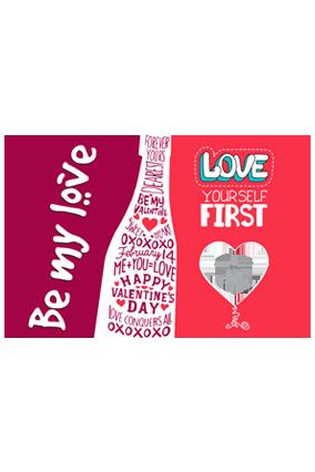 Be My Love Valentine Landscape Poster