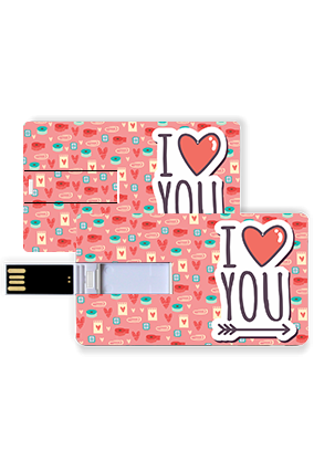 Cute and Lovely Valentine Credit Card Pen Drive