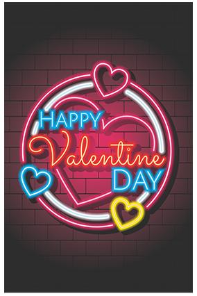 Amazing Neon Valentine Poster