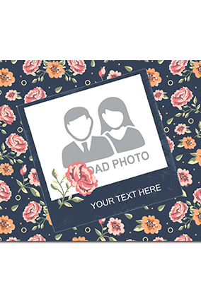 Personalised Flowers Table Mat