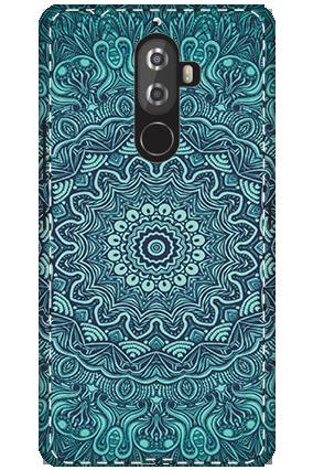 3D - Lenovo K8 Note Blue Pattern Mobile Cover