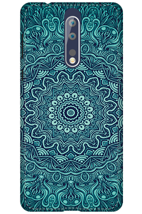 3D - Nokia 8 Blue Pattern Mobile Cover