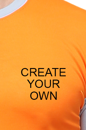 Effit Create Your Own Orange and Grey T-Shirt