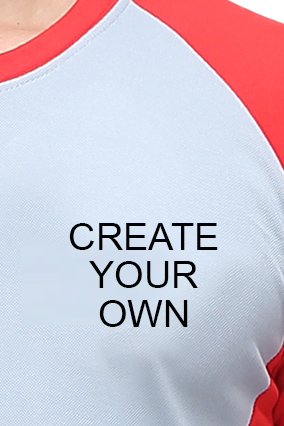 Effit Create Your Own  Grey Red T-Shirt