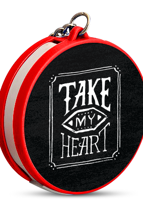 Take My Heart Keychain with Data Cable