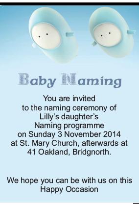 Popping Angels Naamkaran Invitation Card Popping Angels Naamkaran Invitation  Card